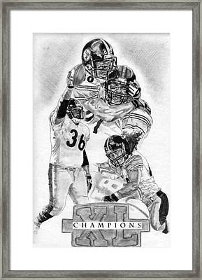 Steelers Champions Framed Print by Jonathan Tooley