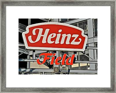 Steelers Home Field Framed Print by WhatAboutBobs FineArtPhotography
