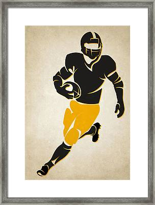Steelers Shadow Player Framed Print by Joe Hamilton