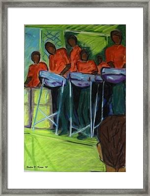 Steelpan In Chaguaramas Framed Print by Nadira Karim