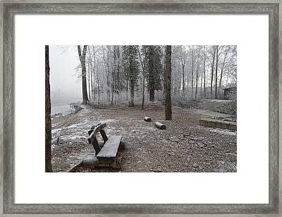 Framed Print featuring the photograph Steep And Frost - 3 by Felicia Tica