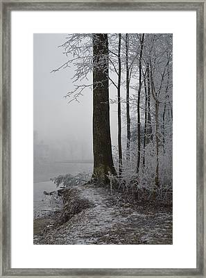 Steep And Frost Framed Print