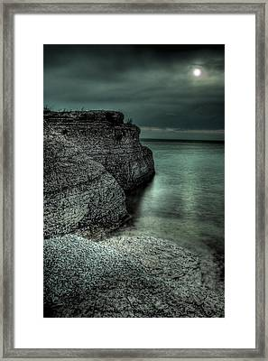 Steep Rock Moon Framed Print by Bryan Scott