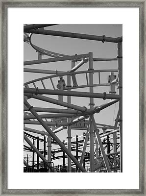 Steeple Chase In Black And White Framed Print by Rob Hans