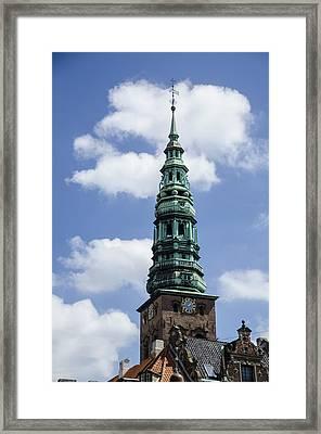 Saint Nicholas Church Steeple  - Copenhagen Denmark Framed Print by Jon Berghoff