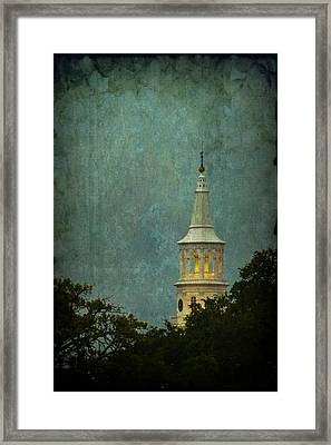 Steeple In A Storm Framed Print