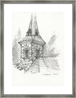 Steeple Framed Print by Michael Shegrud