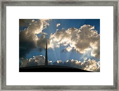 Steeple Framed Print by Snow  White