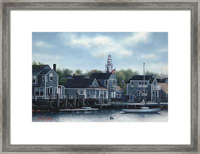 Steeple View Nantucket Framed Print by Julia O'Malley-Keyes