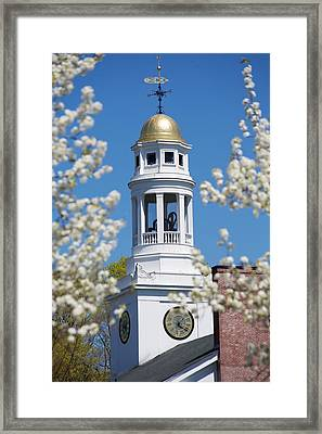 Steeple With Clock Framed Print