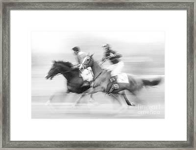 Steeplechase #2 - Fs000283 Framed Print by Daniel Dempster