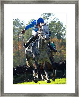 Steeplechase Framed Print