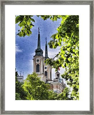 Steeples  Framed Print by Jon Berghoff