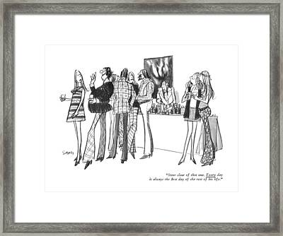 Steer Clear Of That One.  Every Day Framed Print