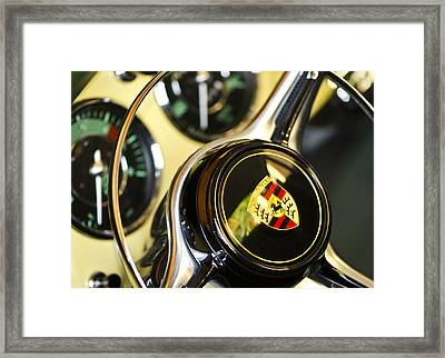 Steering Clear - Vintage Porsche Car By Sharon Cummings Framed Print by Sharon Cummings