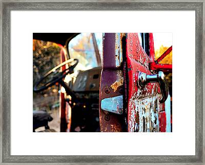 Steering Through Time Framed Print