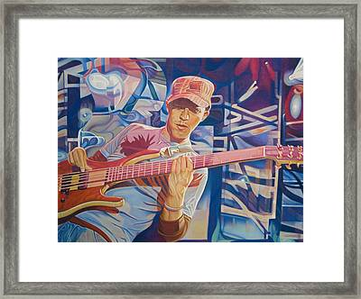 Stefan Lessard And 2006 Lights Framed Print
