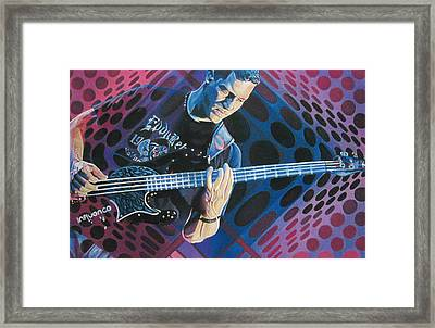 Stefan Lessard Pop-op Series Framed Print