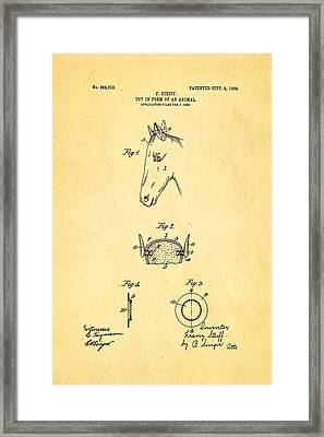 Steiff Horse Toy Patent Art 1908 Framed Print by Ian Monk