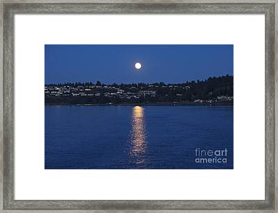 Steilacoom Moonrise Framed Print