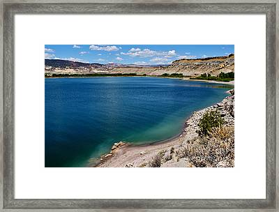 Framed Print featuring the photograph Steinacker Reservoir Utah by Janice Rae Pariza