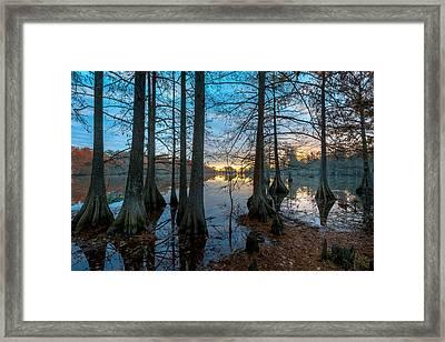 Steinhagen Reservoir Sunrise Framed Print by David Morefield