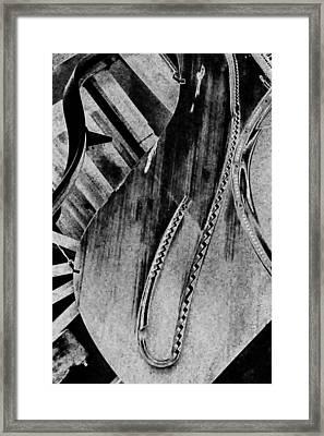 Steinway Black And White Inners Framed Print