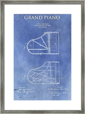 Steinway Piano Patent Framed Print by Dan Sproul