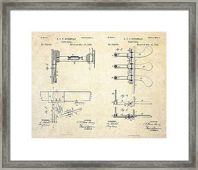 1885 Steinway Piano Pedal Patent Art Framed Print