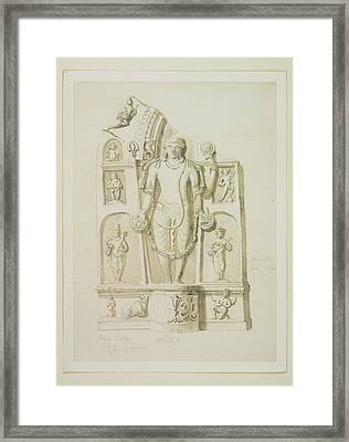 Stele Framed Print by British Library