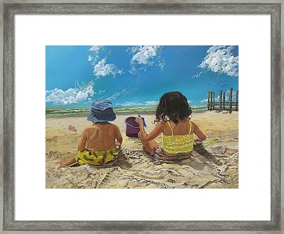 Stella And Sal Framed Print by Kevin F Heuman