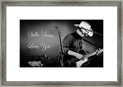Stella Burns Loves You Framed Print by Andrea Mazzocchetti