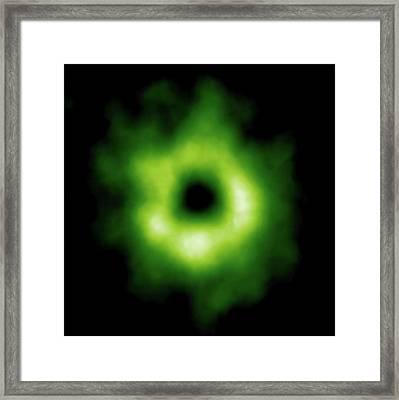 Stellar Carbon Monoxide Framed Print by Alma (eso/naoj/nrao)