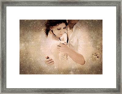 Stellar Couple Dance Framed Print