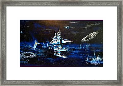 Stellar Cruiser Framed Print by Murphy Elliott