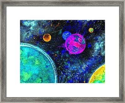 Stellar Flares Framed Print