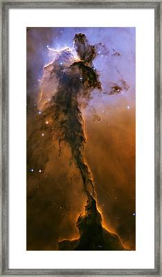 Stellar Spire In The Eagle Nebula Framed Print