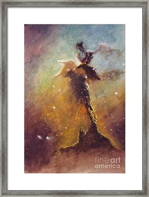 Stellar Spire In The Eagle Nebula Framed Print