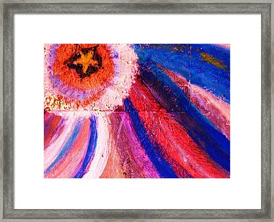 Stellar Swirls Under Star Framed Print
