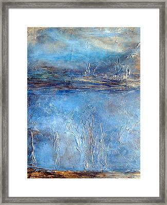 Stellar Wind Abstract Textured Painting Framed Print