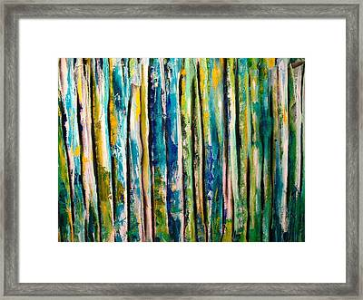 Stems Framed Print by Frank B Shaner