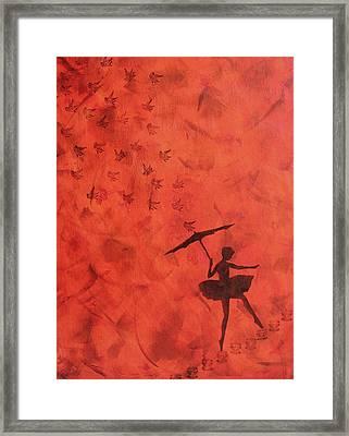 Stencil Ballerina Framed Print