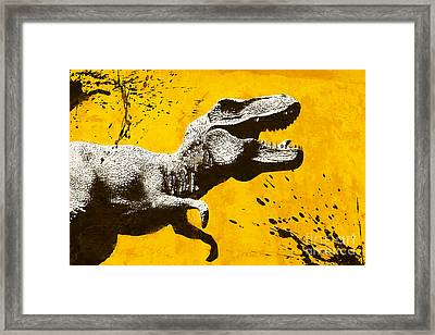 Stencil Trex Framed Print by Pixel Chimp