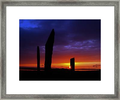 Stennes Sunset Framed Print by Steve Watson