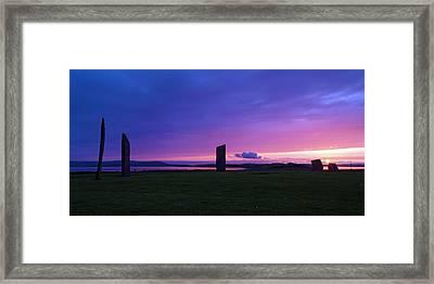 Stenness Sunset 3 Framed Print by Steve Watson