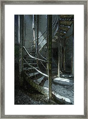 Step Framed Print by Akos Kozari