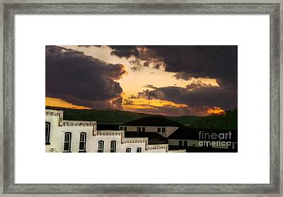 Beautiful Clouds Framed Print