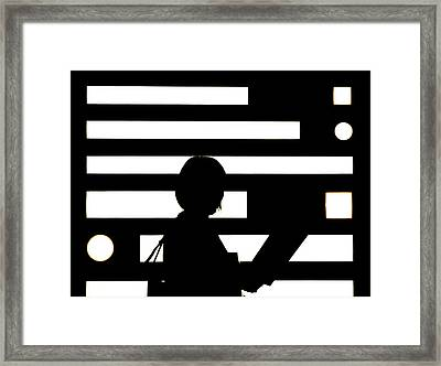 Step Into The Light.. Framed Print by A Rey