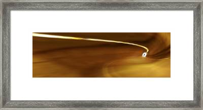 Step Into The Light Panoramic Framed Print by Mike McGlothlen