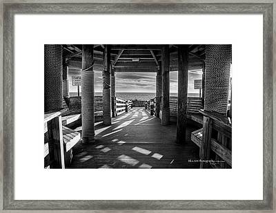 Step Into The Sun Framed Print by Volker 'blu' Firnkes
